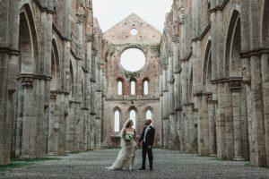 Infinito Amore San Galgano Abbey Wedding Flowers