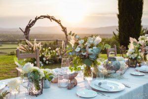 Conti Di San Bonifacio floral wedding decorations